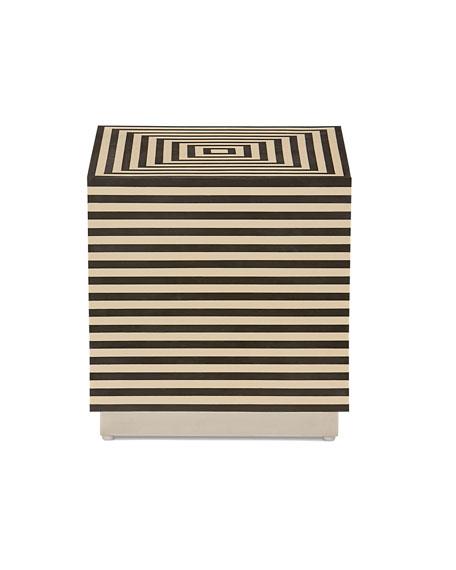 Hamel Horizontal Stripe Side Table