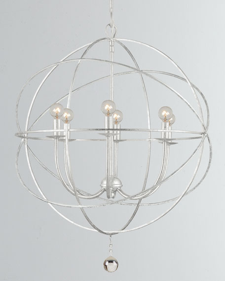 Solaris 6-Light Silver Sphere Chandelier