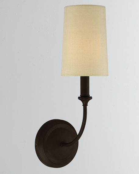 Sylvan 1-Light Dark Bronze Sconce
