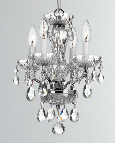Traditional Crystal 4-Light Chrome Mini Chandelier