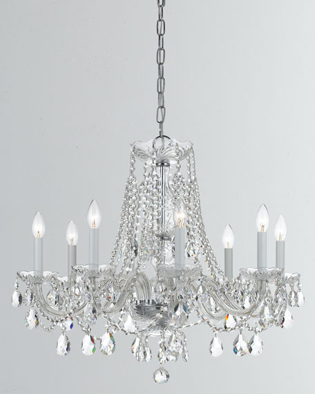 Traditional Crystal 8-Light Crystal Chrome Chandelier