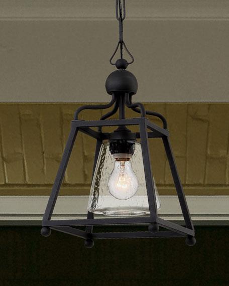 Libby Langdon Sylvan 1-Light Black Forged Outdoor Pendant