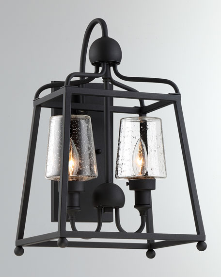Crystorama Libby Langdon Sylvan 2-Light Black Forged Outdoor