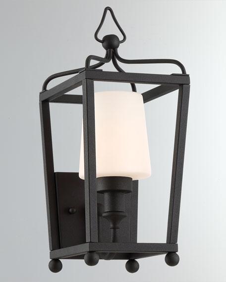 Libby Langdon Sylvan 1-Light Black Forged Outdoor Wall