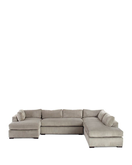 Mitchell Upholstered Sectional Sofa (Right Facing) 136.5""
