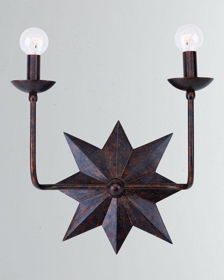Astro 2-Light Bronze Sconce