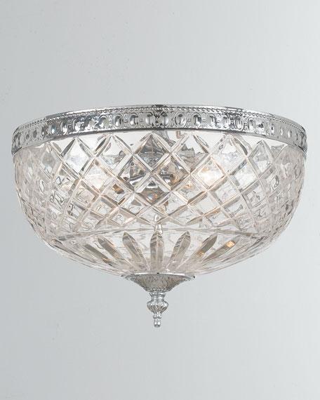 3-Light Crystal Ceiling Mount