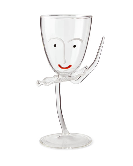 Massimo Lunardon Arabesque Drinking Glass with Stem