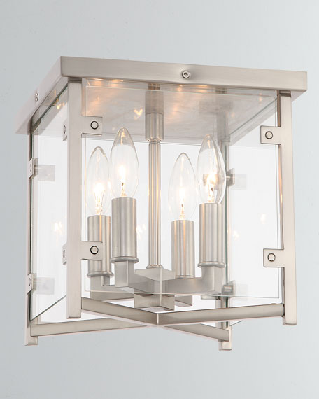 Danbury 4-Light Brushed Nickel Ceiling Mount