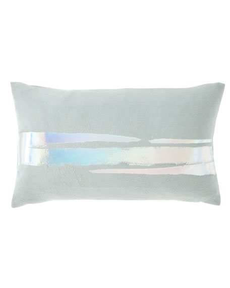 Aviva Stanoff Metallic-Trim Fleece Pillow