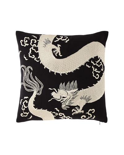 Dragon Embroidery Pillow