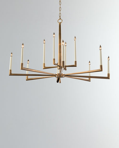 Modern 12-Light Chandelier