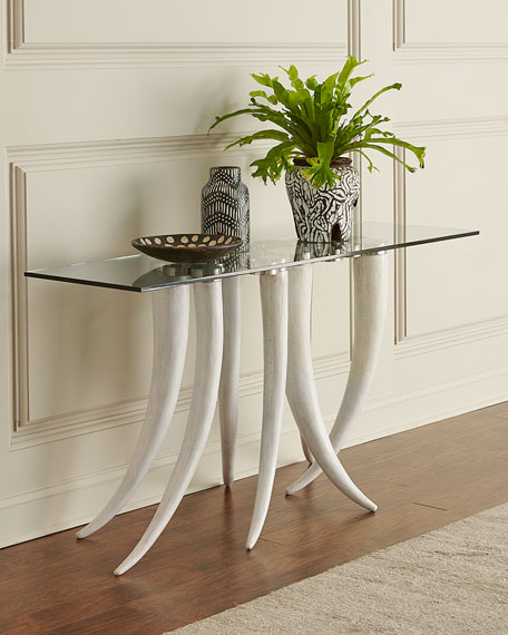 Livingston Glass-Top Console Table
