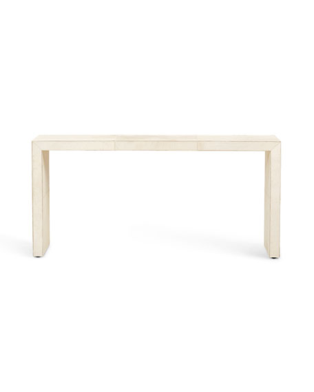 Seward Hair on Hide Wrapped Console Table
