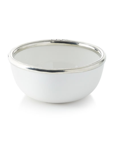 Pewter and Ceramic Cereal Bowl