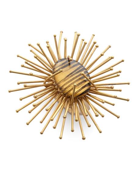 Kim Seybert Sun Flare Metal Napkin Ring, Golden