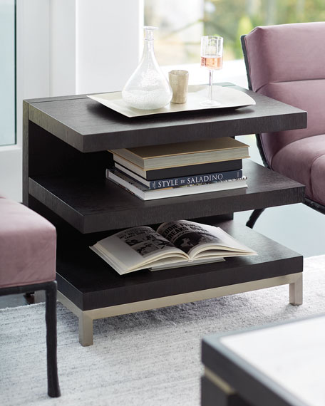 Decorage Open Shelf End Table