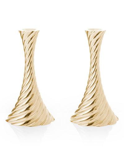 Twist Candleholders, Set of 2
