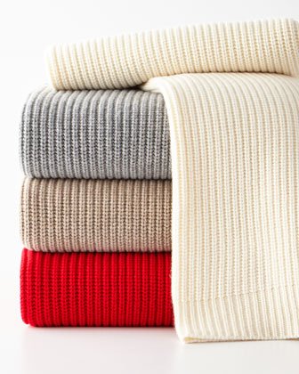 Shaker Rib Knit Throw