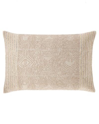 Natural Brocade Decorative Pillow