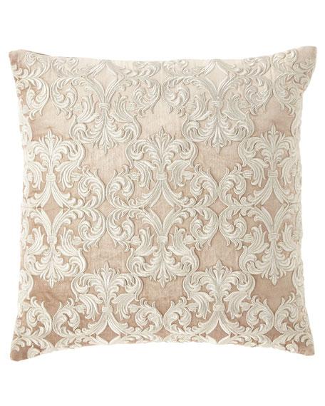 Velvet Embroidered Decorative Pillow