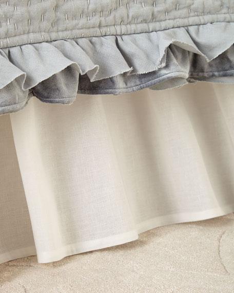 Callisto Home Darboux Gathered Linen Queen Dust Skirt