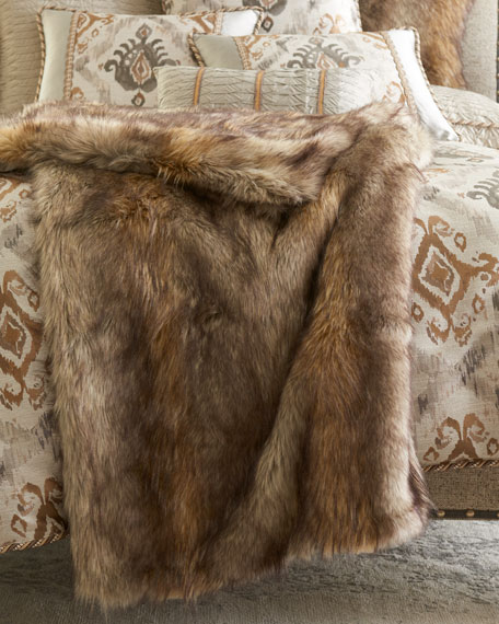 Dian Austin Couture Home Carte Le Blanche Faux-Fur