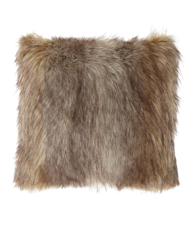 Dian Austin Couture Home Carte Le Blanche Wolf Faux Fur Boutique Pillow
