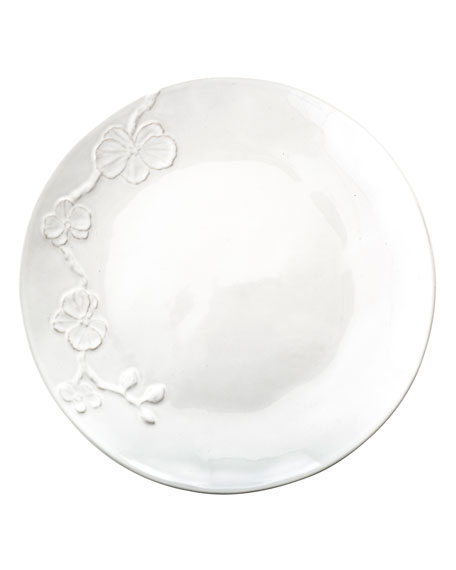 White Orchid Dinner Plate