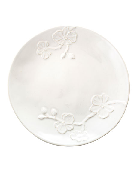 White Orchid Salad Plate