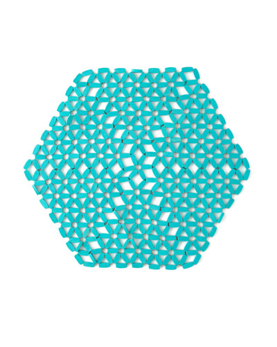 Seafoam Hexagon Bamboo Placemat
