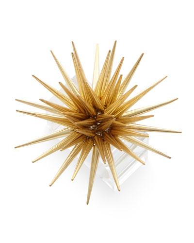 Astrid Starburst Napkin Ring  Golden