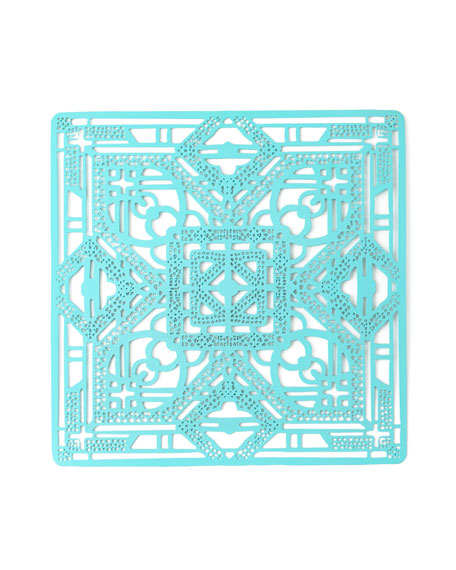 Kim Seybert Filigree Metal Placemat, Turquoise
