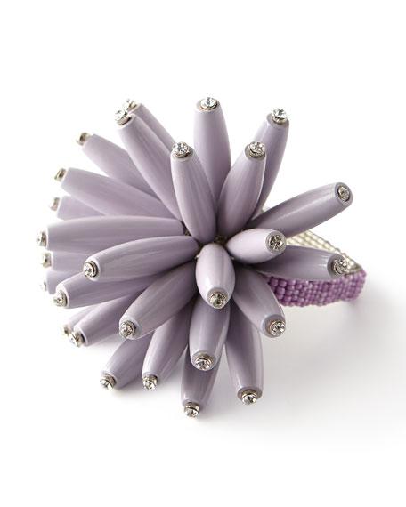 Kim Seybert Constellation Wooden Beaded Napkin Ring, Lilac