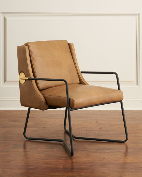 Charmant Arthur Leather Chair With Metal Frame