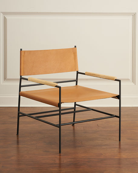 Sycamore Leather Directoru0027s Chair
