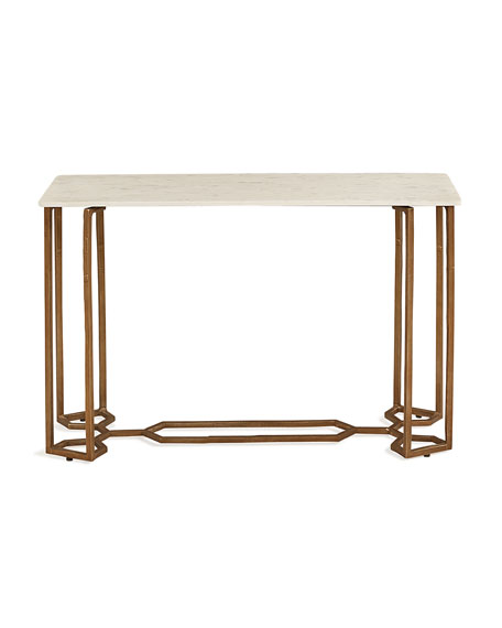 Queens Bridge Metal Console Table
