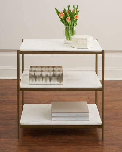 Alma 3-Stone Shelf Night Stand