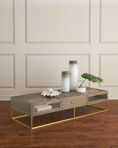 Wayland Wood & Metal Coffee Table