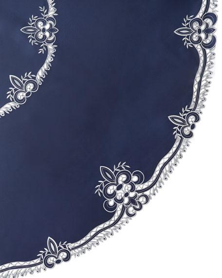 """Ellino 90""""Dia. Tablecloth & 12 Napkins"""