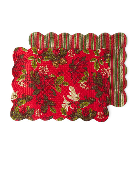 Poinsettia Pine Placemats, Set of 4