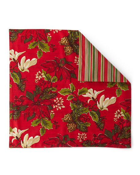 Poinsettia Pine Napkins, Set of 4