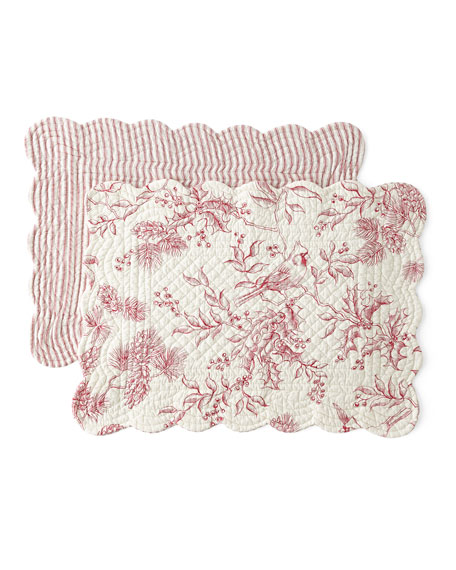 Evergreen Toile Placemats, Set of 4