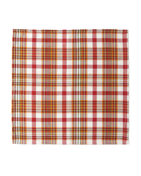 Abingdon Plaid Napkins, Set of 4