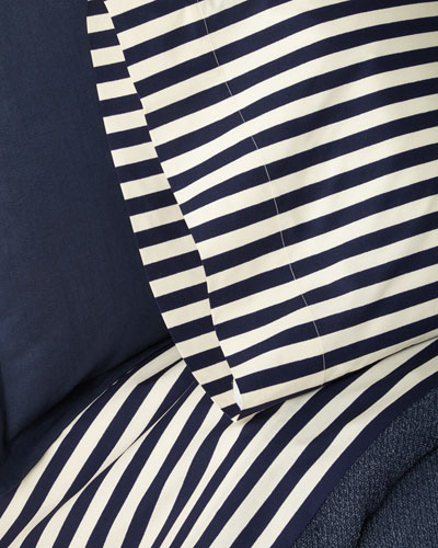 Camron Striped King Flat Sheet