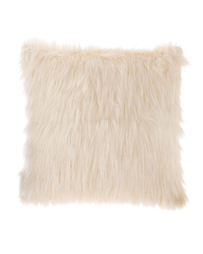Faux-Fur Lurex Pillow