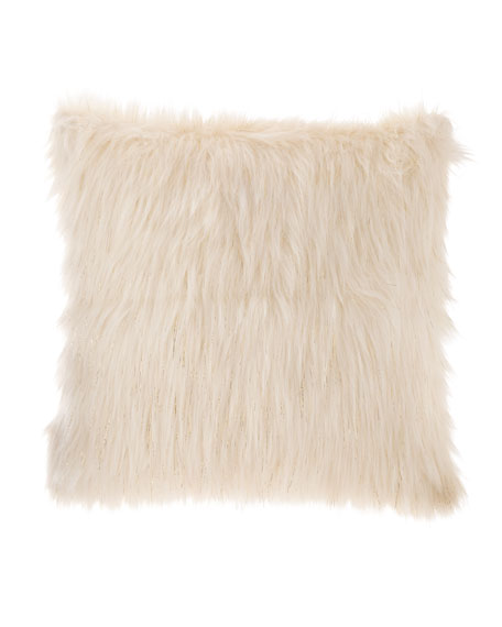 Faux-Fur Lurex Pillow