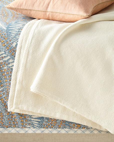 Woven Chevron King Blanket