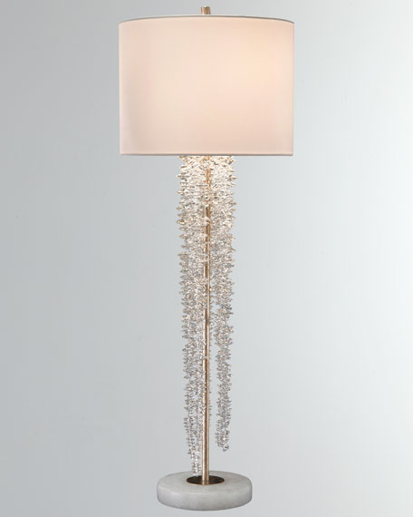 John-Richard Collection Cascading Crystal Waterfall Table Lamp