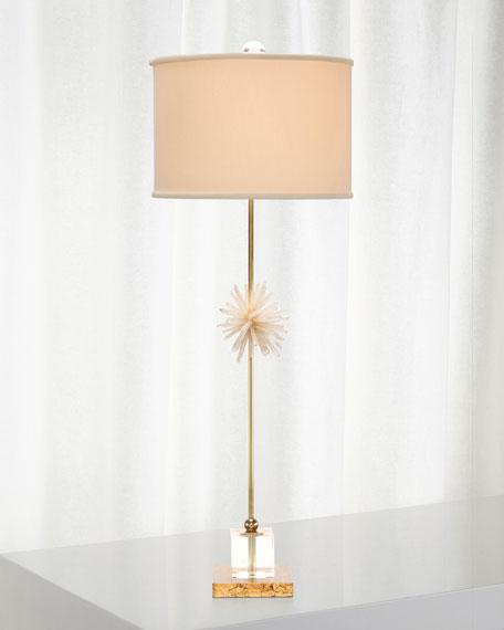 Crystal & Brass Buffet Lamp